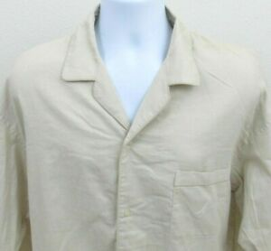 Nautica Mens Nightshirt Size M Long Sleeve Button-Front Safari Sleepwear $32 NWT