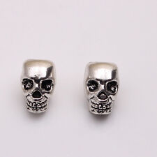 10pcs 10mm Antique Silver Skull Head Spacer Beads DIY Jewellry Findings 4mm Hole