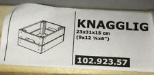 NEW Ikea Knagglig Pine Slat Wood Storage Crate Box
