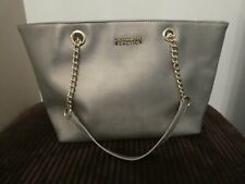 Designer 💐 Kenneth Cole Reaction Metallic Gold Shoulder Hand Bag & Chain Strap