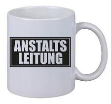 """Kaffee Tasse """"Anstaltsleitung"""" Anstalt Leitung Chef Boss Geschenk Büro X-Mas NEU"""
