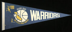 Golden State Warriors 1974-75 NBA World Champions Jack in the Box Promo Pennant