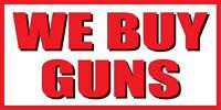 2'x4' WE BUY GUNS Vinyl Banner Sign guns bullets shop