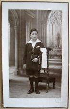 CARTE PHOTO COMMUNIANT 1927 LAMBERT LE HAVRE  j3