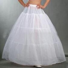 3-Hoop Tulle Petticoat Bridal Crinoline Wedding Bridal Underskirt White Skirt