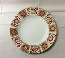 "ROYAL CROWN DERBY ""DERBY PANEL RED"" DINNER PLATE 10 1/2"" BONE CHINA ENGLAND"
