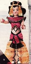"Crochet Doll CLEOPATRA Belly Dancer 7"" Clothes Pattern"