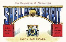 SHELL MOTOR OIL THE KEYSTONE OF MOTORING POSTCARD MINT UNUSED AS SCAN