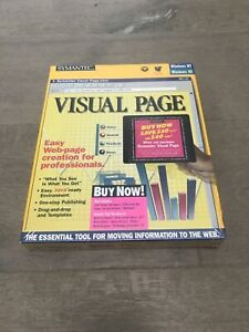 Window 95 New In Box Software Symantec Visual Page PC CD create web pages