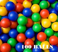 Plastic Balls 100 for Ball Pits Children's Kids Multi-Coloured Toys Play Pool
