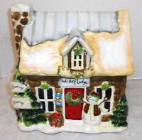 CERTIFIED INTERNATIONAL CHRISTMAS Holiday Lodge SUSAN WINGET COOKIE JAR