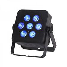 LEDJ Slimline 7Q5 RGBW LED laver / spot (boîtier noir) - 7 x 5 W LED Couleur Quad
