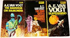 3 PB Sci-Fi Lot - A. E. Van Vogt - Signed copy of Supermind + 2 more