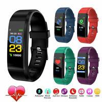 Bluetooth Smart Bracelet Wristband Heart Rate Blood Pressure Monitor Sport Watch