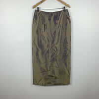 Mr K Womens Maxi Skirt Size 12 Vintage Pearlescent Metallic Party Skirt