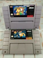 The Simpsons: Bart's Nightmare and Virtual Bart (Super Nintendo SNES) Authentic
