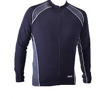 XLC Cruise Thermal Long Sleeve Mens Cycling Elastic Jersey Shirt Black 100%Nylon