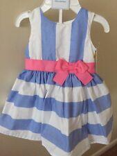 2pcs Carters Baby Girl Newborn NB Frilly Dress Blue Ruffles Carter's New w/ Tags
