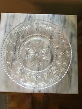 "11"" Large Sparkly Serving Plate Heritage Clear Federal Glass Hobnail & Tulip"