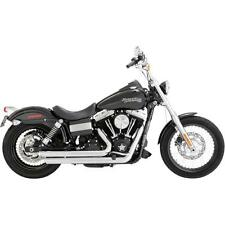 Vance & Hines Exhaust Chrome Big Shots Staggered System Harley Dyna  17935