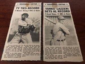 ⚾️VINTAGE 1969 Bazooka Bubble Gum Panel Baseball Extra Card #3 Yankees Lazzeri