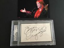 Wynonna Judd Signed Card PSA Certified Autograph The Judds