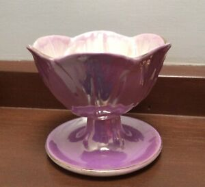 Maling Lilac Pedestal Dessert Bowl