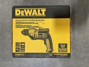 """DEWALT 3/8"""" (10MM) VSR PISTOL GRIP DRILL WITH KEYLESS CHUCK (DWD112)"""