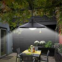 Solar Powered Outdoor Garden Patio Decking Hanging Garage Shed LED Lamp Light