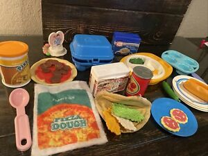 Fisher Price Little Tikes Pretend Play Food LOT vintage pizza taco baking plus
