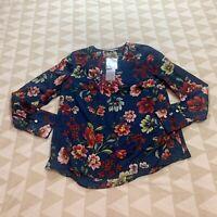 Daniel Rainn For Stitch Fix Womens Floral Printed Vneck Blouse Size Medium M