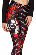 Women Friday The 13th Jason Lives Mask Slim Skinny Fitness Stretch Legging Pants