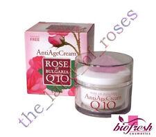 Rose of Bulgaria ANTI AGE CREAM 50ml with Natural Rose Water, Q10, PARABEN FREE