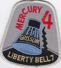 NASA MERCURY 4 LIBERTY BELL 7 GRISSOM PATCH GOLD WIRE 4 X 3 3/4 INCH