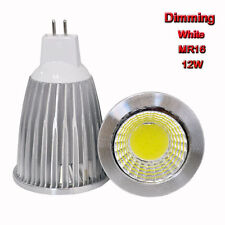 2PCS Dimmable 12W MR16 12V COB Spot down light LED lamp bulb bright White