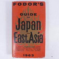 fordor's Guide pour la Japon et est Asie 1963 Livre relié