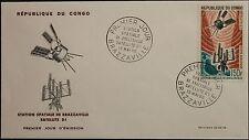 KONGO BRAZZAVILLE 1966 93 C37 D1 Satellite Space Tracking Station Raumfahrt FDC