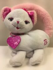 Barbie Kitty Cat Pink White Fluffy Purse Bag Stuffed Plush Toy Pocketbook 2002