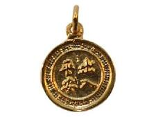 DH29aG 24k Gold over .925 Sterling Silver Vermeil Ying Yang Asian 2-Sided Charm