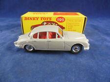 Dinky toys 195 Jaguar 3.4 Saloon in Light Grey Red Interior Original & Superb