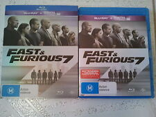 FAST AND FURIOUS 7 BLU RAY EXTENDED EDITION WITH RARE SLIP COVER