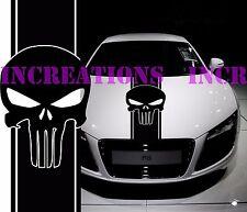 Hood Punisher Universal Fit Any Car GMC Dodge Toyota Stripe Truck Decal Sticker