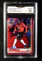 Romelu Lukaku 2018-19 Topps Chrome Uefa RED Wave Refractor #55 10/10 GMA 10
