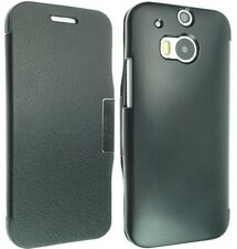 FOR HTC ONE 2 M8 LUXURY LEATHER CASE COVER WALLET FLIP POUCH BACK + SCREEN GUARD