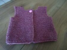 GILET sans manche - Taille naissance 3 mois - couleur Prunelle