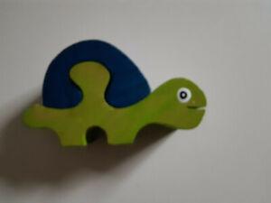 Kleinkind Holzpuzzle 2 Teile Schildkröte Anfänger Baby Puzzle Turtle