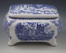 OLD BRITAIN CASTLES BLUE-WHITE LARGE BOX -JEWELRY BOX-CASKET