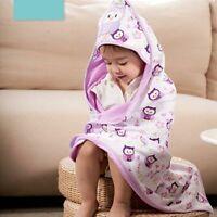 Baby Kids Hooded Bath Towel Cartoon Baby Bathrobe Bath Essential Baby Blanket