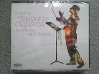 A WORLD OF FAVOURITE CLASSICS - OVERTURES & FINALES  - 3CD BOX SET (NEW SEALED)