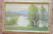 GUSTAVE WIEGAND - Oil on Canvas (33x23)- Signed - Hand Carved Wood Frame